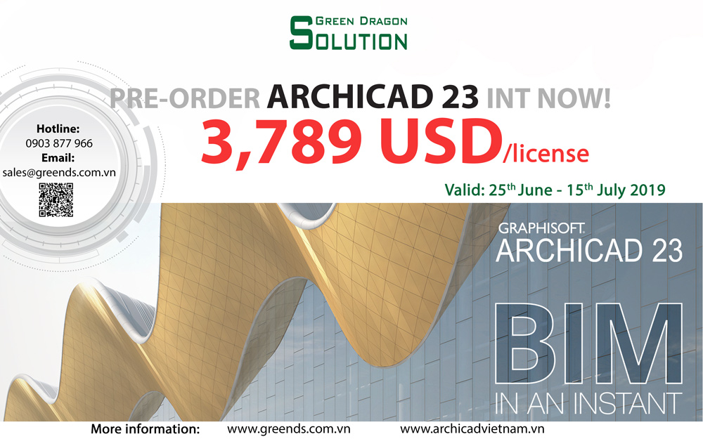 Welcome ARCHICAD 23 Our lowest prices are back  But not for long!