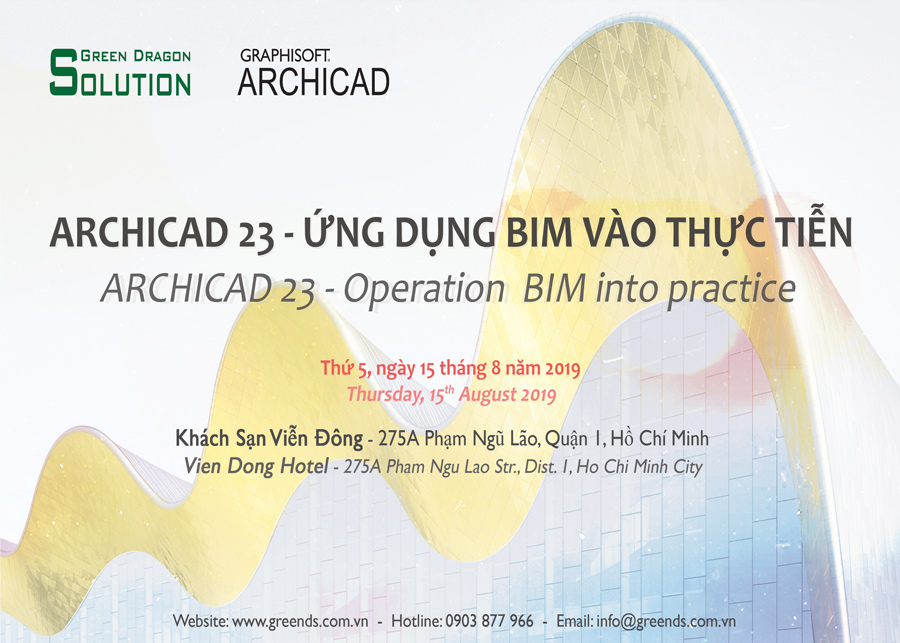 ARCHICAD 23 - Operation BIM into practice - Green Dragon